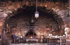 Come warm yourself by in the fireplace grotto. Please, feel free to burn secret notes, love letters, and incriminating evidence while no one is looking.