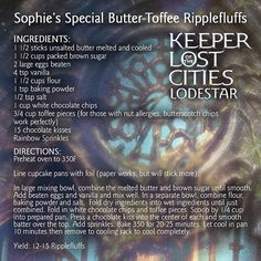Another Ripplefluff recipe (based on a scene in LODESTAR)