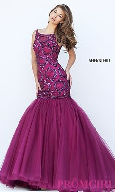 Sherri Hill Embellished Long Mermaid Prom Dress SH-50237 at PromGirl.com