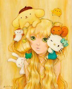 Camilla D'Errico - Pom Pom Kitty Pie with Hello Kitty for 50th sanrio anniversary small gift
