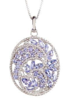 Savvy Cie Tanzantite & White Diamond Pendant Necklace on HauteLook