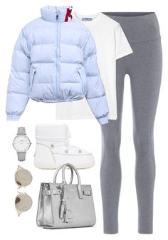 """""""Untitled #4629"""" by magsmccray on Polyvore featuring LNDR, Prada, Chiara Ferragni, CLUSE, Yves Saint Laurent and Miu Miu"""