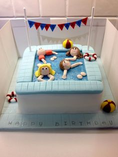 Swimming Pool Party Cake                                                                                                                                                                                 More