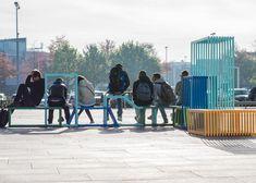 Izabela Bołoz's Intersections modules interlock to form seating
