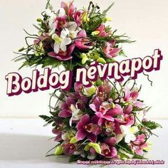 Névnapi Name Day, Floral Wreath, Birthday, Happy, Tulips, Saint Name Day, Birthdays, Ser Feliz, Wreaths
