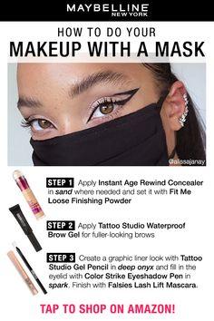 Mask Makeup, Makeup 101, Skin Makeup, Makeup Inspo, Makeup Inspiration, Beauty Makeup, Eye Makeup Steps, Makeup Eye Looks, Edgy Makeup