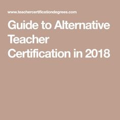 The american board for certification of teacher excellence
