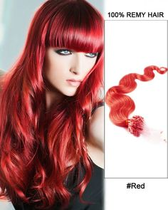Wholesale Red 18'-24' Body Wave100% Remy Hair Human Micro Loop Hair Extensions