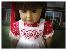American Girl Doll 18 Inch Valentines Dress by BonJeanCreations, $32.49