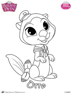 Ariel Has A New Palace Pet Otto Is An Adorable Sea Otter That Loves To Free Coloring PagesColoring SheetsAdult