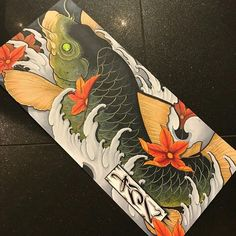 Started and finished this today , about 2.5 ft by 1ft with markers #fudoshintattoos #japanesetattoo #japanesetattoos #japaneseart #japanesetattooart #koi #koifish #japanesekoi #koitattoo #japanesetattoodesign #japanesesleeve #markers