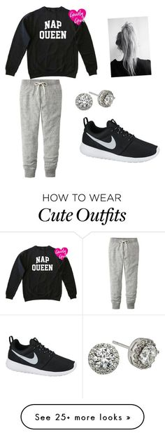 """Cute lazy day outfit"" by ashcollins9 on Polyvore featuring Uniqlo, NIKE and Modern Bride"
