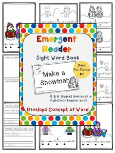 Emergent Reader Sight Word Book Make a Snowman #Freebie Friday #TPT #Free #TeachersFollowTeachers