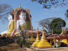 Kyaikpun Pagoda, Bago, Myanmar. #myanmar
