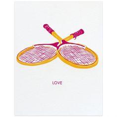 Smudge Ink Tennis Love