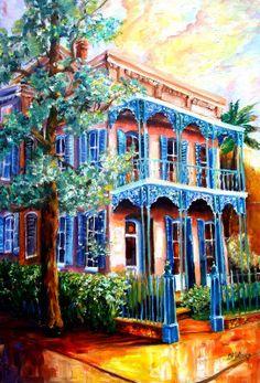 New Orleans Garden District House -   Artist Diane Milsap