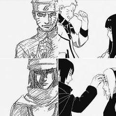 Naruto y Hinata, Sasuke y Sakura- Naruto by Masayi Kishimoto manga • concept…
