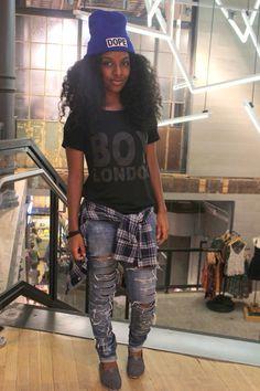 Jeans e preto