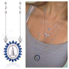 Bom dia  com esse #colar #nossasenhora  maravilhoso! Compras no ➡️www.nieva.com.br #mixdecolaras #colarnossasenhora #prata925 #details #presente #semijoias #nievastore #shopnow