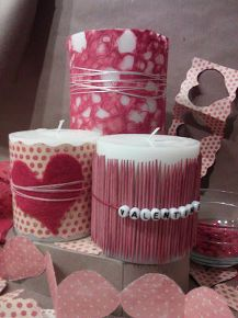 changeable valentine candle decor, crafts, seasonal holiday decor, valentines day ideas, Wrap your plain old pillar candles with fancy papers fabric or trim Valentines Day Decorations, Valentine Day Crafts, Red Candles, Pillar Candles, Beeswax Candles, Diy Halloween Dekoration, Candle Craft, Beautiful Candles, Valentine's Day Diy