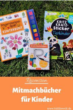 Mitmachbücher für Kinder, Kinderbuch, Bastelbuch, Kratzbuch, Sticker, Buchstaben lernen, Stempeln, Lesen, Bestseller, Arsedition