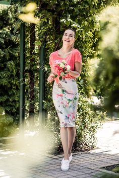 Floral skirt summer dress outfit