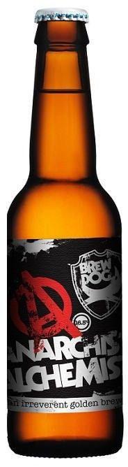 Cerveja BrewDog Anarchist / Alchemist, estilo Imperial / Double IPA, produzida por BrewDog, Escócia. 14% ABV de álcool.