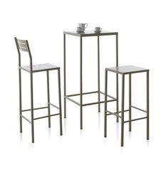 Taburetes y mesas altas de forja  www.fustaiferro.com