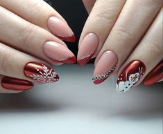 The most fashionable nail ideas to try in early /div div class='wp-pagenavi' role='navigation' span class='pages'Photo 21 of class= One Color Nails, Nail Colors, Nail Designs Pictures, Wedding Nails For Bride, Metallic Luster, Just Girly Things, Easy Nail Art, Cute Makeup, Stylish Nails