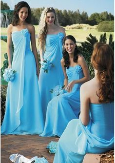 For Sale Chiffon Strapless A line Floor Length Skirt Hot Sell Bridesmaid Dress BM-0085 Cheap