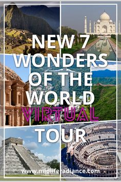 Bored at home? Take a virtual tour of the New 7 Wonders of the World from home. 7 Wonders of the World Virtual Museum Tours, Virtual Tour, Places To Travel, Places To See, Travel Destinations, Travel Around The World, Around The Worlds, Virtual Field Trips, Virtual Travel