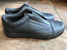 3260f6550e VANS Black Leather Unisex Slip On Ultracush Shoes Men 5.5 Women 7  fashion   clothing  shoes  accessories  unisexclothingshoesaccs  unisexadultshoes  (ebay ...