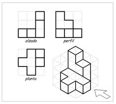 Visual i plàstica El Castell Isometric Sketch, Isometric Art, Isometric Drawing Exercises, Orthographic Drawing, Geometric Construction, Interesting Drawings, Fractal Geometry, Free To Use Images, Sketch Design