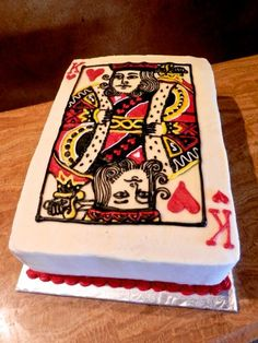 King of Hearts grooms cake #groomscake