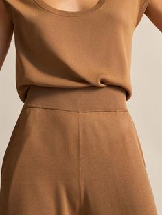 Massimo Dutti - Women - Wide fit trousers - Tobacco brown - S Urban Chic, Trousers Women, Spring Summer, Brown, Fitness, Products, Fashion, Fall Winter, Dots