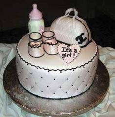 Chanel baby shower cake
