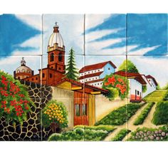 Mexican Style Mural - Camino Iglesia - I think I am getting this for the backsplash behind my stove