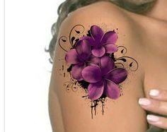 Temporäre Tattoo Flower wasserdicht extrem dünne realistische gefälschte Tätowierungen
