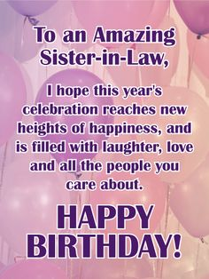 Happy Birthday Sister In Law Lucky To Have You As A Sister In