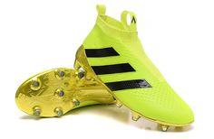 size 40 8778a 34980 Adidas ACE 16+ Purecontrol FG Volt Black