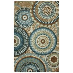 Forest Rings Multi Rug (5' x 8') | Overstock.com Shopping - The Best Deals on 5x8 - 6x9 Rugs