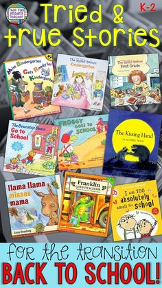 Looking for great picture books? Here are my tried, tested and true recommendations for easing the transition back to school; for their familiarity, upbeat rhymes and modeling for students! Starting Kindergarten, Kindergarten Lessons, School Lessons, Life Lessons, Back To School Hacks, Back To School Activities, Literacy Activities, New School Year, First Day Of School