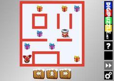 Santa-maze | Digipuzzle.net Christmas Games, Maze, Puzzles, Santa, Cartoon, Fun, Decor, Decoration, Puzzle