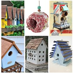 20+ Stunning Bird Houses - some DIY and others for sale. cute ideas