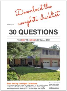 30 Questions You Must Ask Before Buying a Home - Download the free complete checklist2 - ThriftDiving.com.jpg