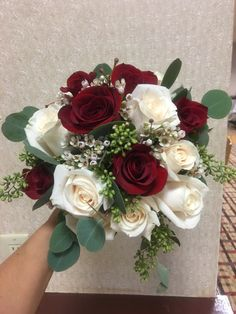 Picking the Perfect Flower Wedding Bouquet Burgundy Wedding Flowers, Rose Wedding Bouquet, Prom Flowers, Bridal Flowers, Rose Bouquet, Bridesmaid Bouquet, Red Wedding, Floral Wedding, Wedding Colors