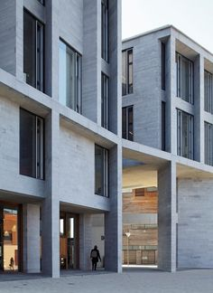 """Medical School, University of Limerick, Ireland Architects: Grafton Architects Irish Blue Limestone: Sanded and bush-hammered finish """"Limestone is used to represent the 'formal' central medical school, making reference to the limestone territory of County Clare in which this side of the campus is located."""""""