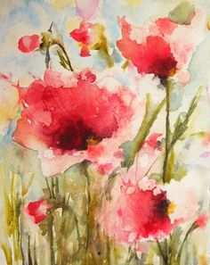 Karin Johannesson Contemporary Watercolour: POPPIES