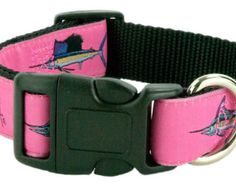 GUY HARVEY PINK grad slam dog collar by SpecializedRibbon on Etsy