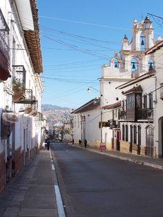 via www.mountainadventures.com  Sucre, Bolivia. The true capital of Bolivia. Que linda!